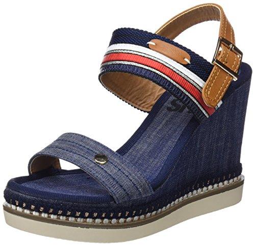Refresh Ouvert 64403 Sandales Bleu Bout Femme navy wtwda1Orqy