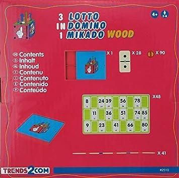 Decorativo Madera Juegos De Mesa - Lotto Dominó Mikado ...