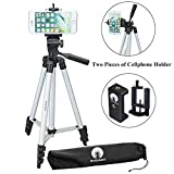 Photo : DIGIANT 50 Inch Aluminum Camera Phone Tripod+ Universal Tripod Smartphone Mount for Apple, iphone Samsung and Other Brands Smartphones+carrying bag