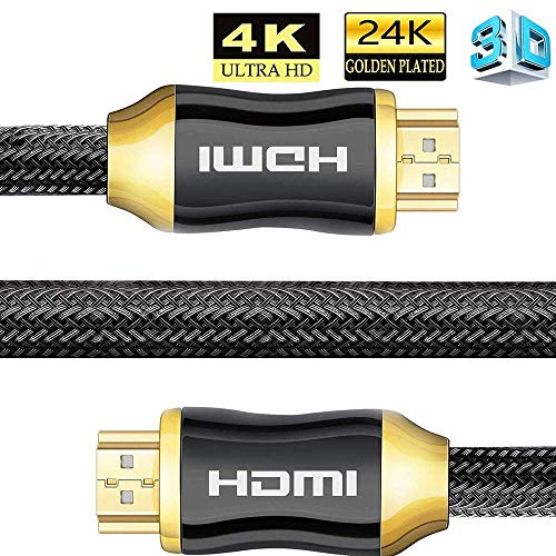 BOLLAER 4K Ultra HD HDMI Cable, High Speed HDMI 2.0a/b Cable,High Definition Multimedia Interface, Compatible with 4K Ultra HDTV 2160P, Full HD 1080P, HDR, 3D (5M / 16.4FT)