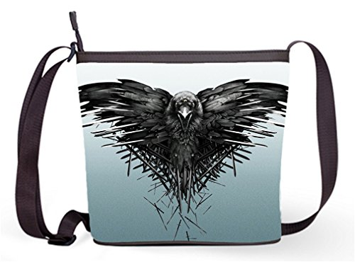 (Women's fabric Fashion Shoulder Bags Crossbody Sling Bags with The Three-eyed Raven Print)