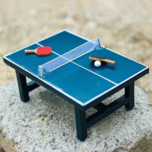 qsbai® - Set de Tenis de Mesa en Miniatura de casa de muñecas para niños, Juguete de Madera Realista