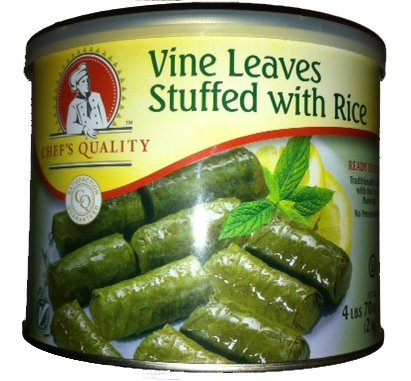 Gourmet Vine Leaves Stuffed with Rice, 4 lbs 6 oz by Chef's Quality ()