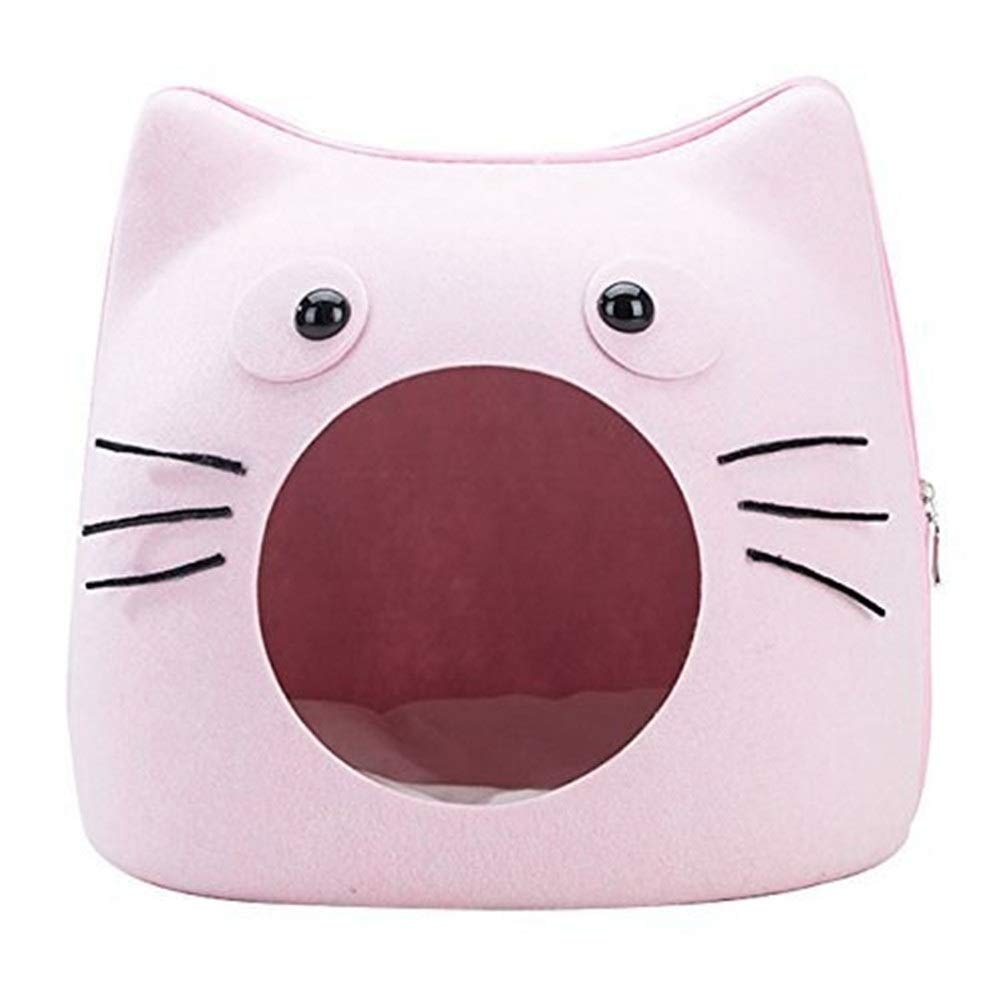 Chunchun Deluxe Felt Cat Litter Removable Breathable Pet Bed Pink Easy to Clean for Small Dogs and Cats by Chunchun