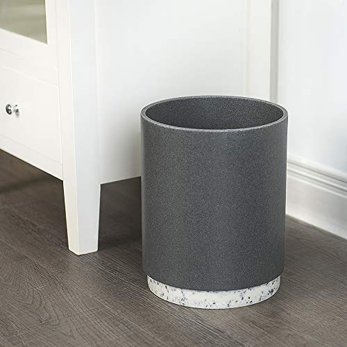 - Allure Home Creations Marcello Stone Small Trash Can Wastebasket-Garbage Container Bin for Bathroom, Kitchen and Home Office