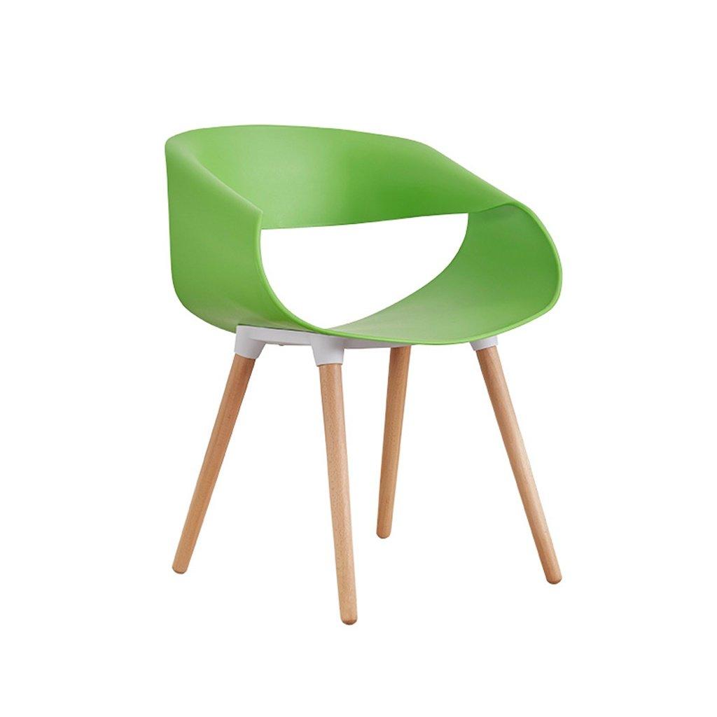 Lxn 椅子クリエイティブファッションバックストップシンプルな近代交渉椅子北欧スタイルのダイニングチェア ( 色 : 緑 ) B07CMTSRF2緑