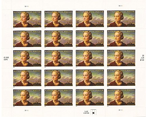 US Stamp - 2006 Author Katherine Anne Porter - 20 Stamp Sheet - Sunglasses Porter