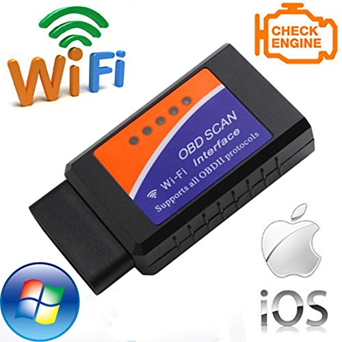 NorSway Wifi OBD2 Car Code Reader Diagnostic Scanner Check Tool Connect with IOS Android and Windows Device