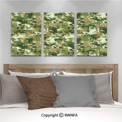 3Pc Creative Wall Stickers Skull Camouflage Military Design with Various Frog Pattern Different Tones ArtPrint Bedroom Kids Room Nursery Dinning Wall Decals Removable Art Murals,19.7