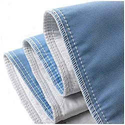 """Platinum Care Pads Super Brush Ultra Soft Reusable Bed Underpad - Machine Washable & Dryable, Waterproof, Extra-Absorbent, Personal Care & Hospital Rated Under Pad (34""""X36"""" Blue) (Pack of 1)"""