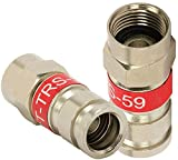 PCT-TRS-59L RG59 F Connector Universal Compression Fitting - 50 Pack