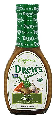 Drew's All Natural Organic Salad Dressing, Asian Ginger, 8 Ounce (Drews Italian Dressing compare prices)