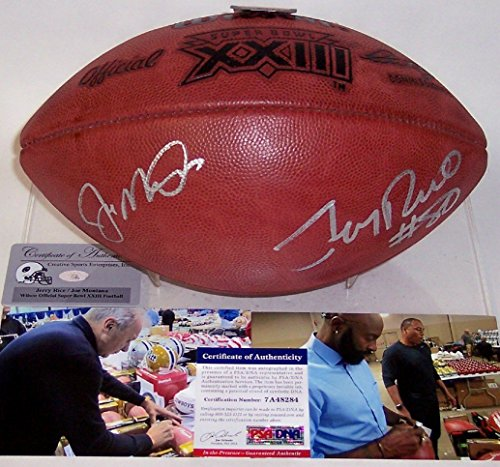 Joe Montana and Jerry Rice Autographed Hand Signed Super Bowl 23 XXIII Official Wilson NFL Leather Football - PSA/DNA