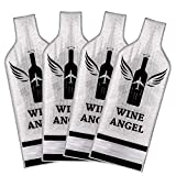 [UPGRADED PROTECTION] 4 Set (8 pcs) Reusable Wine Bags for Travel, Wine Travel Protector, Bottle Travel Sleeve Case For Airplane, Car, Cruise, TRIPLE Protection Luggage Leak-proof Safety Impact Resist