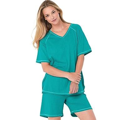 3b947968a7f3d Dreams   Co. Women s Plus Size Knit Pj Short Set at Amazon Women s ...