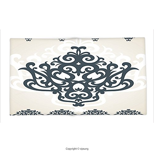 Custom printed Throw Blanket with Arabesque by Middle Eastern Islamic Motif with Arabic Effects Filigree Swirled Artsy Print Pearl Grey Super soft and Cozy Fleece Blanket by vipsung