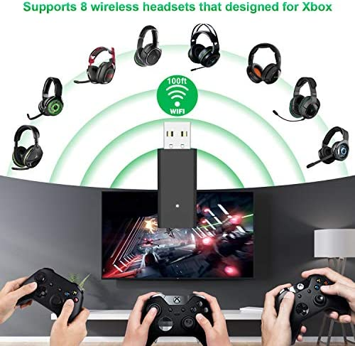 FOOAO Wireless Adapter for Xbox Controller Works for PC Laptop Windows 10 Compatible with Xbox One Xbox Series X Xbox One X S Controller Elite Series