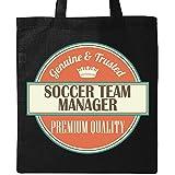 Inktastic Soccer Team Manager Funny Gift Idea Tote Bag Black