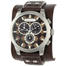 Marc Ecko Men's E14539G4 Brown Leather Quartz Watch with Brown Dial