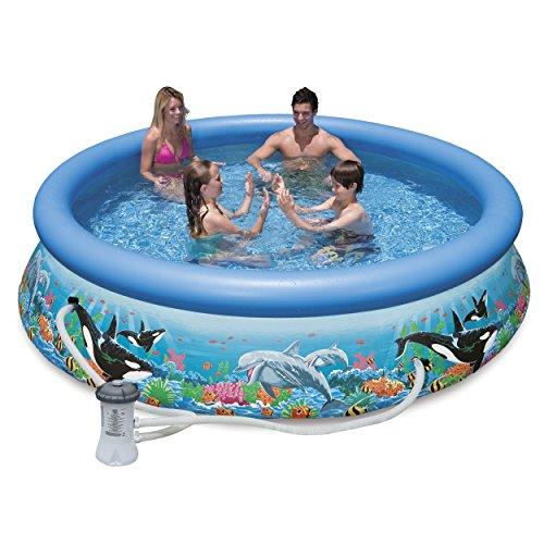 intex 28125eh 10ft x 30in ocean reef easy set pool set. Black Bedroom Furniture Sets. Home Design Ideas