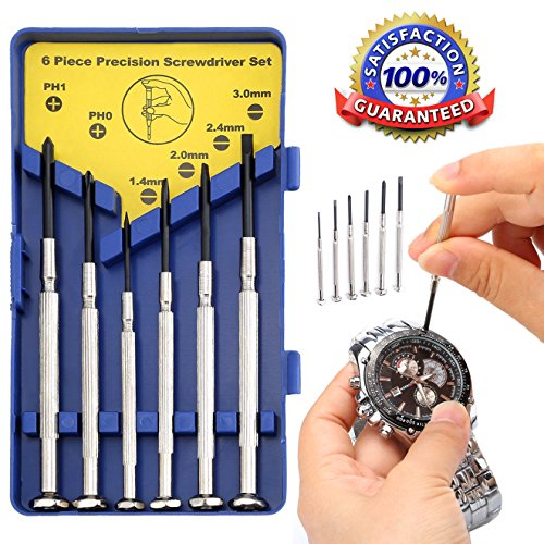 XCOOK 6 Pieces Precision Screwdriver Set with Case Watch Jew