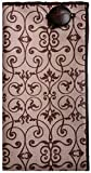 Brown Print with Brown Leather Button Men's Pocket Square by The Detailed Male