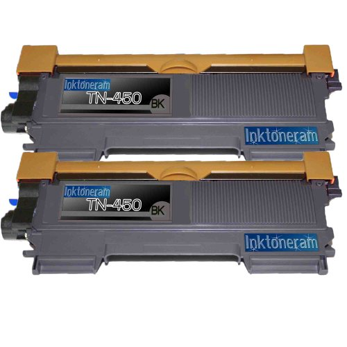 2 New Remanufactured High Yield TN450 Brother TN-450 Toner Cartridge, Office Central