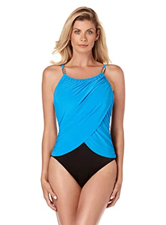 1658ea6d4c8 Magicsuit Women's Swimwear Solid Lisa High Neck One Piece Swimsuit with  Underwire Bra and Adjustable Straps