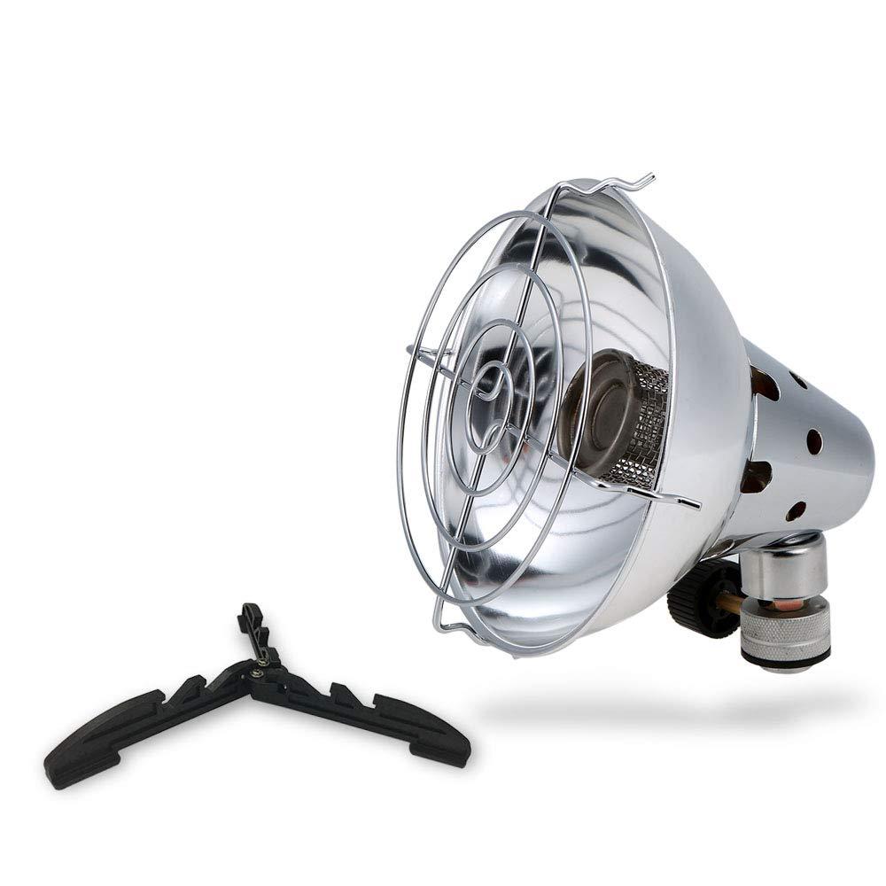 SODIAL Calentador De Gas Para Acampar Al Aire Libre Calentador Con Soporte Estufa De Gas Portátil Estufa Al Aire Libre Pesca Caza Propano Butano Calentador De La Tienda