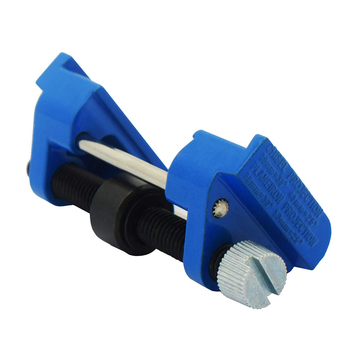 """CartLife Honing Guide Jig for Wood Chisel Edge Sharpening Holder,Fixed Angle Knife Sharpener,Clamping Planer Blade,Graver,Flat Chisel Hand Tool (Chisels 1/8"""" to 1-7/8"""",Planer Blades 1-3/8"""")"""
