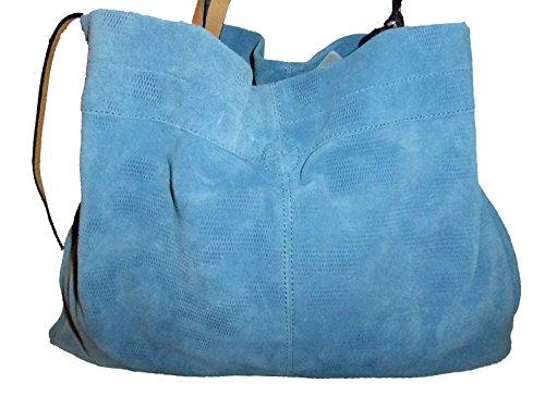Damen Schultertasche blau hellblau Girly HandBags yWLeDu