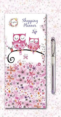 Playtime Daisy - Daisy Patch Animal Friends Owls Magnetic Shopping Planner With Pad & Gel Pen