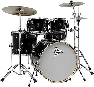 gretsch drums energy vb 5 piece drum set with zildjian cymbals black musical. Black Bedroom Furniture Sets. Home Design Ideas