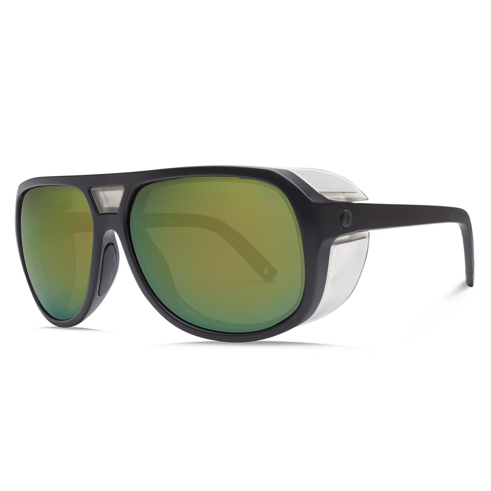 Electric Visual Stacker Matte Black//OHM+Polarized Bronze Green Sunglasses