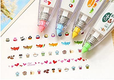 JASON-Z 4pcs Korea Cute Novelty Sticker Machines & Stickers