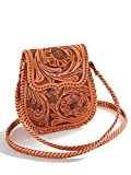 Que Chula Chiquita Handtooled Leather Women's Bag Natural CHIQUITA-NAT