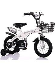 دراجة أطفال ZHITONG مع عجلات التدريب وزجاجة ماء 12 بوصة، أبيض