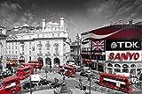 London Piccadilly Circus Art Print Poster - 24x36 Poster Print, 36x24