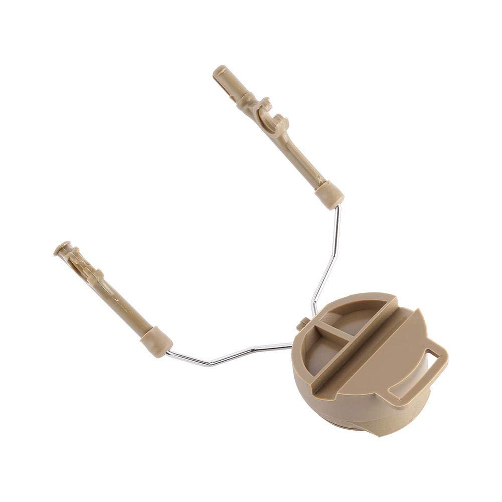 Acero Casco Riel de Arco Auriculares de Suspensi/ón Soporte Casco R/ápido T/áctico Militar para Peltor Comtac Adaptador de Riel para Casco 2 Pcs Adaptador de Carril de Casco de Pl/ástico Canela