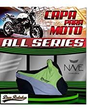 Capa de moto Nave All Séries cor verde