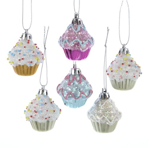 Kurt Adler Cupcake Ornament Set product image