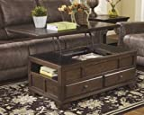 Ashley Furniture Signature Design - Gately Coffee Table - Rectangular - Lift Top - Medium Brown