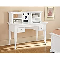 NE Kids Walnut Street Desk with Hutch, White