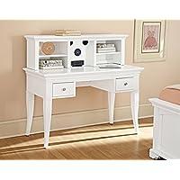 NE Kids Walnut Street Desk with Hutch, White