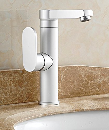 AWXJX Ceramic bath Hot and cold swivel three-hole wash your face Sink Mixer Taps