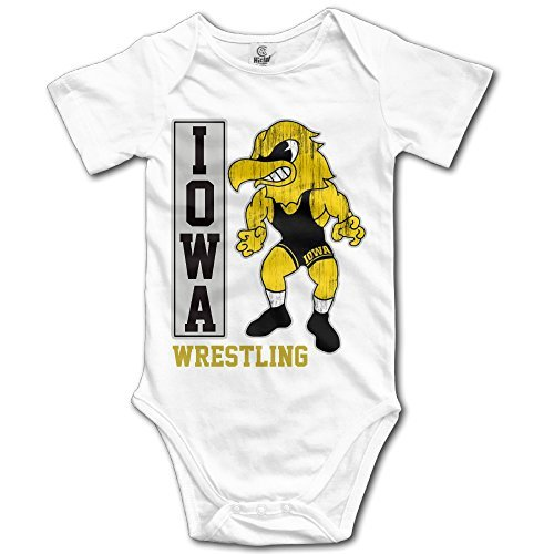White Baby's Iowa UI Iowa Hawkeyes Wrestling Sleeveless Romper (Iowa Hawkeyes Wrestling)