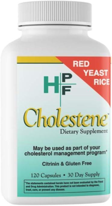 HPF Cholestene Red Yeast Rice, 120 Capsules: Health & Personal Care