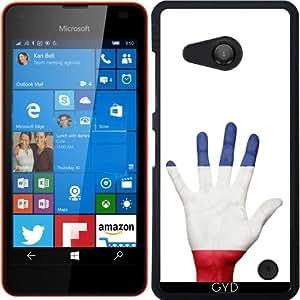 Funda para Microsoft Lumia 550 - Bandera De Francés En La Mano by Grab My Art