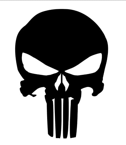 Amazon THE PUNISHER SKULL Rubber Stamps Custom