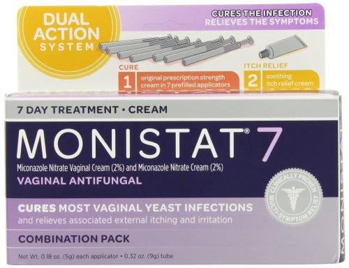Monistat 7 Combination Pack antifongique vaginal, 7 préremplies applicateurs et une crème externe Tube